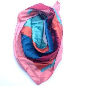 Zara multicolor square scarf NWOT